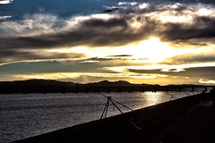 Rods (Corey Mac) Tags: sunset sky clouds canon river fishing fisherman riverside dundee sunny tay dslr rods helios 600d dundeebridge