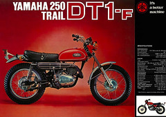 Yamaha DT1 F 250 enduro (Rickster G) Tags: pictures classic vintage 1974 photo offroad image photos antique album picture motorcycles 360 images oldschool dirt trail photographs photograph 400 motorcycle yamaha 70s 100 dirtbike collectible collectors sales brochure mx rare dt 250 thumper 175 enduro 125 prestige twinshock vjm vinduro