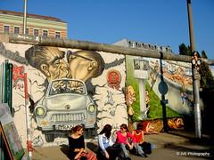 The Famous Brezhnev Honecker kiss (elnina999) Tags: berlin germany deutschland graffiti freedom politicalsatire murals wallart berlinwall spraypaint touristattraction 1961 eastsidegallery berlinermauer memorialwall leonidbrezhnev erichhonecker antioppression openairgallery mygodhelpmetosurvivethisdeadlylove diedeutscheteilung colorfulartworks borderaroundwestberlin concretesegment diegedenksttte dergrenzstreifen diegeschichtederteilung diegrenzsperren