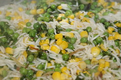 Pilau rice with peas and sweetcorn (WorldClick) Tags: pakistan food india green chicken yellow canon cuisine eos photo yummy flickr colours photographer with rice vibrant indian tasty east photograph peas pakistani colourful middle eastern sweetcorn pilau phototgraphy 1100d canoneos1100d worldclick