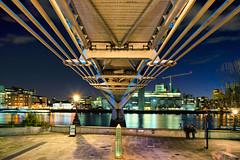 Wobbly Bridge (Tedz Duran) Tags: travel bridge england urban london thames modern river tate path cityscapes millenium duran nightscapes tedi woobly tedz