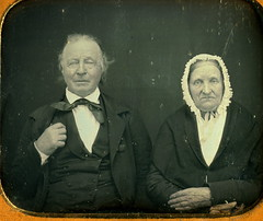 elderly couple goofy and grumpy daguerreotype (jessecollectorfreak) Tags: old history goofy vintage couple antique unique 1800s collection elderly daguerreotype grumpy