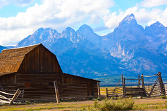 Mormon Row - 1 (Michael E(xplorator) S.) Tags: barn background wyoming grandtetons tetons mormonrow