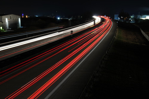 Autobahn A3 at Night