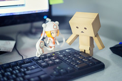Can i play this? (Tumeatcat) Tags: nikon figure d800 danbo toyphotography nendoroid danboard