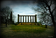 Calton Hill , Edinburgh, Scotland (Terezaki ) Tags: park trip travel trees winter sky green nature landscape photography scotland photo edinburgh europe searchthebest scandinavia caltonhill pictureperfect naturesfinest 50faves 70faves anawesomeshot flickrdiamond theperfectphotographer vision:sunset=0574 vision:sky=0527 vision:outdoor=0851
