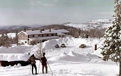 Vinterstemning ved Skistua (1960-tallet)