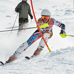 Madeline SULLIVAN of Ontario takes 3rd Place in the U14 Girls Slalom Race held on Whistler Mountain on April 6th, 2014. Photo by Scott Brammer - coastphoto.com