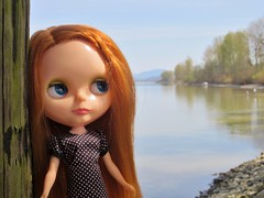 Audrey on the river..