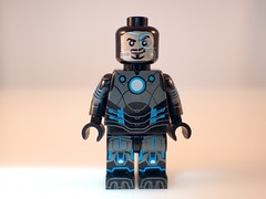 Grid Iron - base layer (Alien Hand) Tags: man grid iron lego marvel minifigure