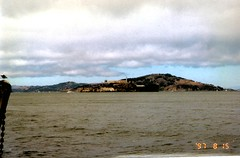 img467 Alcatraz or The Rock - San Francisco (wide angle) (kalihikahuna74 (OkinawaKhan808)) Tags: cali california thebay bayarea vacation trip august 1997 1990s 90s analog predigital camera scanned scan old oldschool school pointandshootcamera pointandshoot us america unitedstates unitedstatesofamerica sanfrancisco san francisco stateside