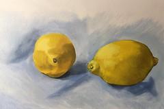 Lemons (Handwork Naturals) Tags: dailypainting south warm citron citrus lemonade cooking painting basic simple fruit lemons