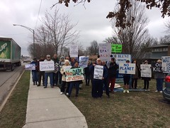 Protest outside Senator Blunt