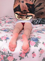 SnakesintheBed copy (tallteeth711) Tags: vore feet fetish legs damsel vorevids shoop snake fishvore toes nylons stockings