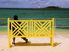 Beach Day (tomcanon68) Tags: canon40d canon sigma1850mm28 nassau bahamas beach lighthouse yellow sand sun water ocean