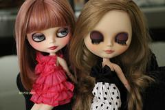 2 lindas (MUSSE2009) Tags: blythe doll custom toys ann lilac erregirodolls