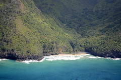 Kalalau Trail Aerial,  Na Pali Coast, Kauai, Hawaii (lihue1946) Tags: beach hiking kauai napalicoast hanakapiai kalalautrail hikingkauai aerialkalalautrail