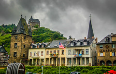 Bacharch Germany along the Rhein River (mbell1975) Tags: old mist castle rain river germany deutschland town europe day cloudy fort rainy german valley schloss rhine altstadt oldtown fortress rhein along burg deutsch festung bacharch