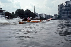 Speeding down the river, Bangkok (1982) (Duncan+Gladys) Tags: thailand bangkok enhanced th