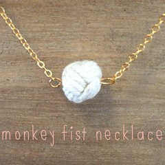 Monkey Fist Necklace (Beachdashery Jewelry) Tags: necklace maine jewelry sailor nautical monkeyfist shoresidechic