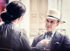 L'homme au chapeau * Paris (sistereden2) Tags: olympus f18 zuiko omd 75mm em5 artlibres