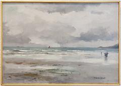PASCAL Lopold La grve, Saint Jean du doigt (PoissArt) Tags: marine bretagne paysage vague plage morlaixmusedesjacobins peinturebretonne pascallopold