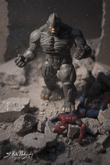 Gotcha little bug!! (3rd-Rate Photography) Tags: canon comics toy 50mm florida spiderman rhino comicbook 7d figure jacksonville marvel villain toyphotography earlware alekseimikhailovichsytsevich 3rdratephotography