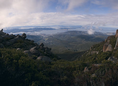 View of Hobart, Mount Wellington