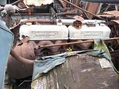 THORNYCROFT ENGINE (TruckerPat) Tags: engine rusty scrapyard oldlorry olftruck thornycroftvehicles thornycroft6x6