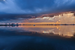 A Thunderstorm Passing over Boston (chris lazzery) Tags: sunset storm boston winthrop massachusetts thunderstorm bostonharbor canonef24mmf14lii 5dmarkii