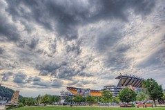 Heinz Field, home of the Pittsburgh Steelers, beneath a cloudy sky HDR (Dave DiCello) Tags: sunset sun moon clouds reflections dawn pittsburgh dusk universityofpittsburgh bridges mtwashington northshore rivers hdr pncpark heinzfield cathedraloflearning thepoint pittsburghskyline pointstatepark westendbridge pittsburghsteelers westendoverlook steelcity robertoclementebridge pointstateparkfountain pittpanthers pittsburghphotographer nikond600 d700 d40x nikond700 fountainpittsburgh davedicello hdrexposed pittsburghfountain fountaininpittsburgh fountainatpointstatepark parkatthewestendoverlook fountaininpointstatepark pittsburghfountains
