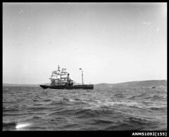 Tugboat WARATAH passing training ship  JOSEPH CONRAD (Aust
