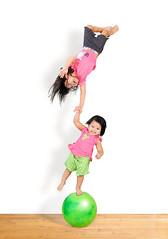My Tiny Clowns (Alex Tumusok) Tags: family girls portrait girl childhood composite kids sisters studio children kid nikon child humor balance toddlers elinchrom 2470 actphotography sb900