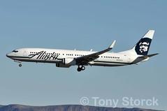 N423AS (bwi2muc) Tags: las alaska plane airplane flying airport aircraft boeing 737 alaskaairlines 737900 lasvegasairport mccarraninternationalairport 737900er n423as