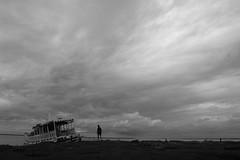 'Exit' (Life in Frozen Frames) Tags: sky blackandwhite cloud india man nature landscape steamer bengal diamondharbour lifeinfrozenframes reemagill tamaghnasarkar 20131022dsc0385