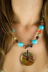 "Model-Beaded-Necklace-turquoise • <a style=""font-size:0.8em;"" href=""http://www.flickr.com/photos/11654903@N04/10635100383/"" target=""_blank"">View on Flickr</a>"