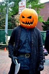 Pumpkin Head (asw12681) Tags: halloween graveyard skulls costume mask ghost eerie haunted horror salem monsters witches skeletons coven freaks noose jackolanterns gory daed ghouls