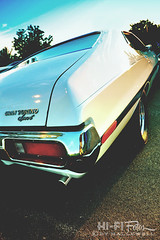 Get Off My Lawn (Hi-Fi Fotos) Tags: old sunset ford sport vintage torino nikon classiccar shiny antique tail rear retro bumper chrome american 70s gran 1972 72 musclecar d5000 hallewell hififotos