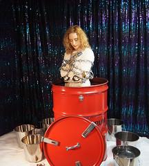 The Ultimate Drum Escape! (SherryandKrallMagic) Tags: houdini waterescape richardsherry daylekrall femaleescapeartist femaleescapologist ladyhoudini sherryandkrallmagic drumescape