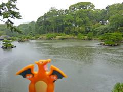Charizard in Hiroshima, Hiroshima 14 (Shukkei-en Garden) (Kasadera) Tags: toys hiroshima figure pokemon pokmon  charizard   glurak  shukkeiengarden pokemonkids   dracaufeu
