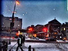 A (Snowy) Day In New York (The All-Nite Images) Tags: city winter urban snow art buildings chelsea manhattan lowermanhattan emoji manhattannyc eyebeamgallery ottoyamamoto theeyesofnewyork theallniteimages