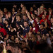 NC State students give President Obama an energetic welcome.