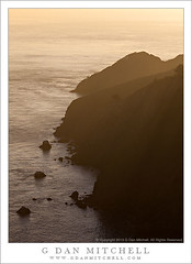 Marin Headlands, Winter Evening (G Dan Mitchell) Tags: ocean county light sea cliff seascape nature water fog print landscape evening coast haze rocks pacific marin stock atmosphere national goldengate license area headlands recreation rugged steep seastacks ggnra