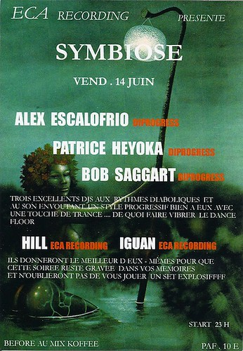 "Dj Patrice Heyoka - Flyer 14/06/2002 - ECA ""Symbiose"" (Montpellier) <a style=""margin-left:10px; font-size:0.8em;"" href=""http://www.flickr.com/photos/110110699@N03/12211812696/"" target=""_blank"">@flickr</a>"
