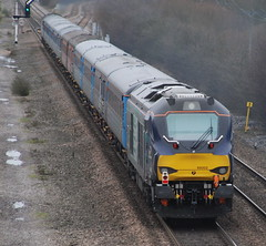 68002 (Sam Tait) Tags: winter rain train diesel derbyshire traction rail railway loco junction class rainy stormtrooper locomotive derby spotting direct 68 stenson mainline drs 68002 servises freinght