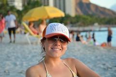 Day on the beach (Jason Fairbairn Photography) Tags: portrait woman beach girl sand honeymoon waikiki honolulu brunette waikikibeach waikikisunset