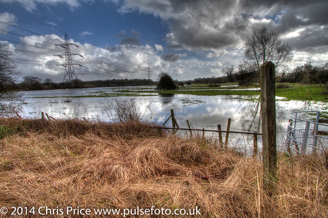 River Loddon in Flood