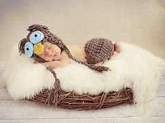 OWL BABY COSTUME (Crafty Brid Me) Tags: original baby cute love beautiful hat kids mexico happy photo costume nice colorful sweet handmade small crochet creative picture yarn gifts cotton newborn owl present lovely cloth diapers crocheting cloting