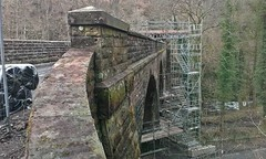 Underneath The Arches. (Kingfisher 24) Tags: river scotland scaffolding perthshire viaduct glenfarg closedrailway