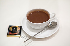 Italian hazelnut and almond blend hot chocolate with Amedei 9 bar (thewanderingeater) Tags: newyorkcity chocolate amedei luxurychocolate italianchocolate